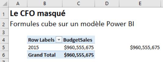 Analyze in Excel - Formule cube