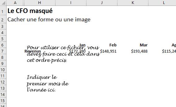 Cacher une forme ou une image erreur