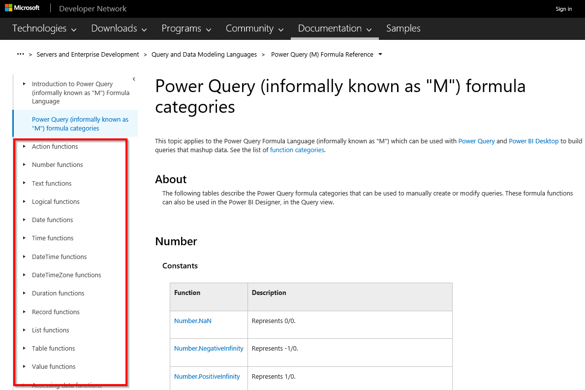 Formules Power Query