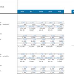 Modèle revenus et coûts Détail