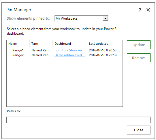 Pin Manager details