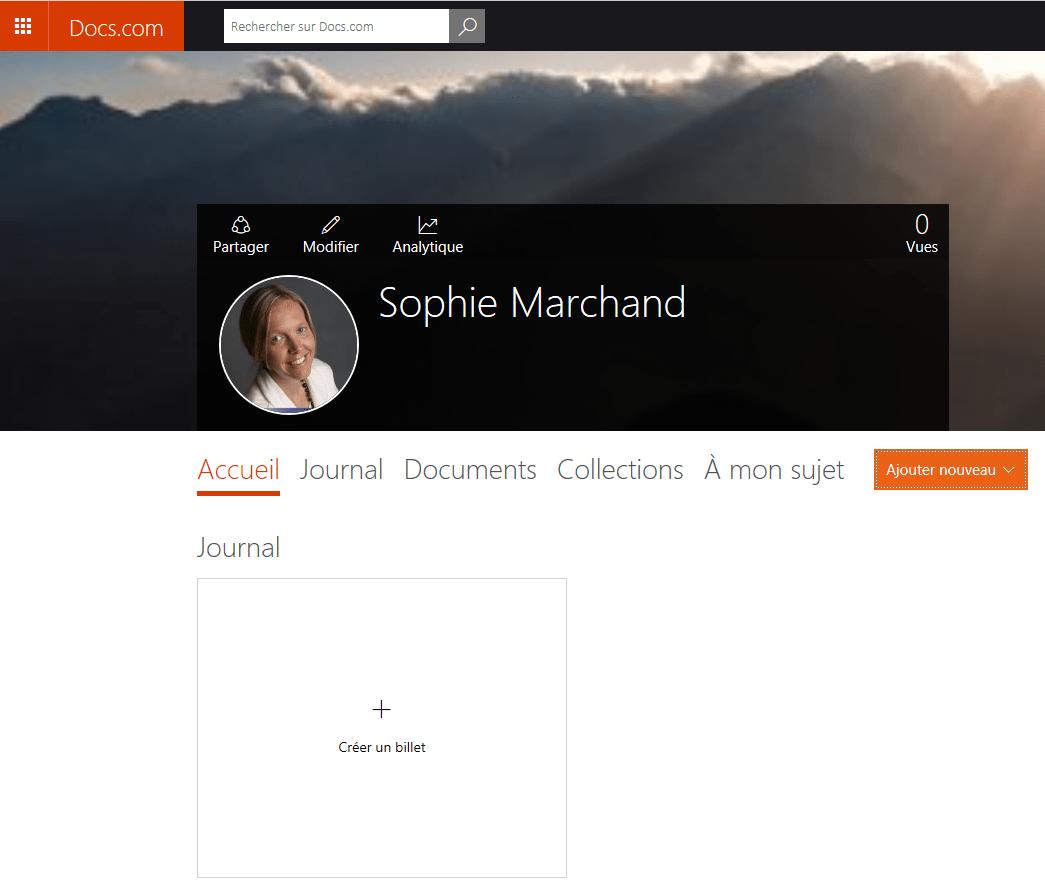 Docs.com espace personnel