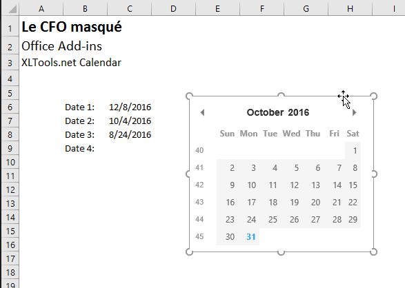 Excel Add In Ajouter Une Date Aisement A L Aide D Un Calendrier