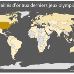 Carte géographique dans Excel - Mondial