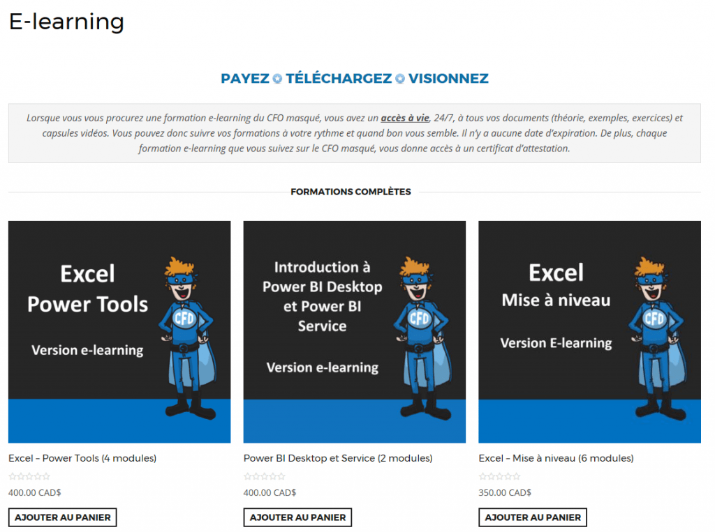 Formations e-learning accès à vie