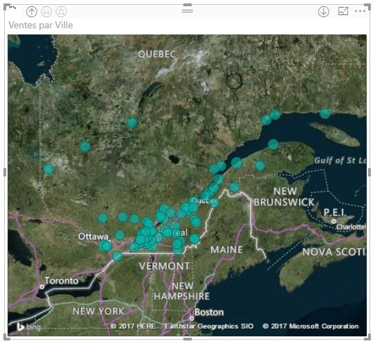 Power BI - Carte avec vue aérienne