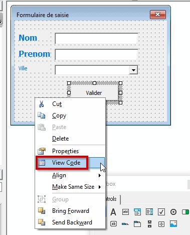 Code VBA bouton valider