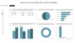 Rapport Power BI - Analyse salaires par unité d'affaires