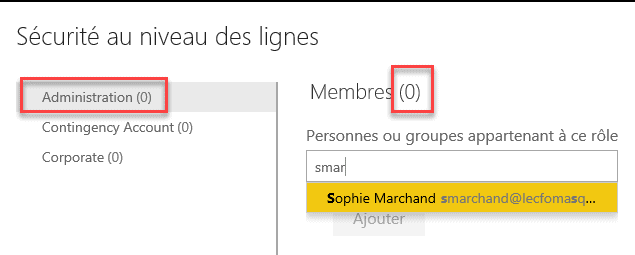 Sécurité Power BI