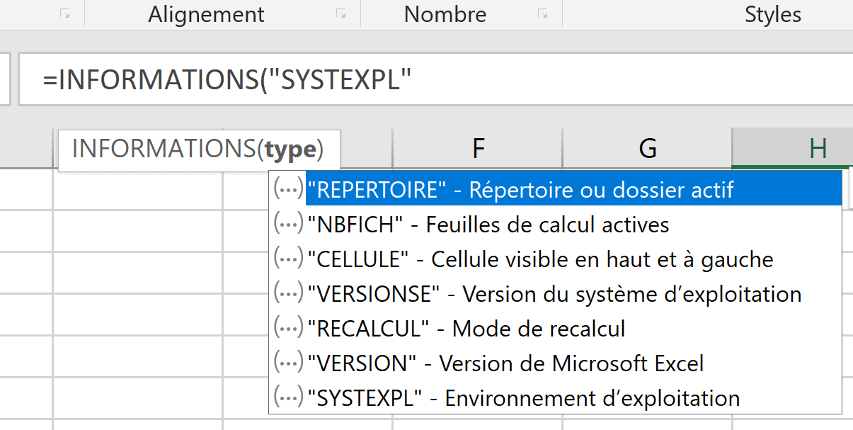 INFORMATIONS SYSTEME EXPLOITATION