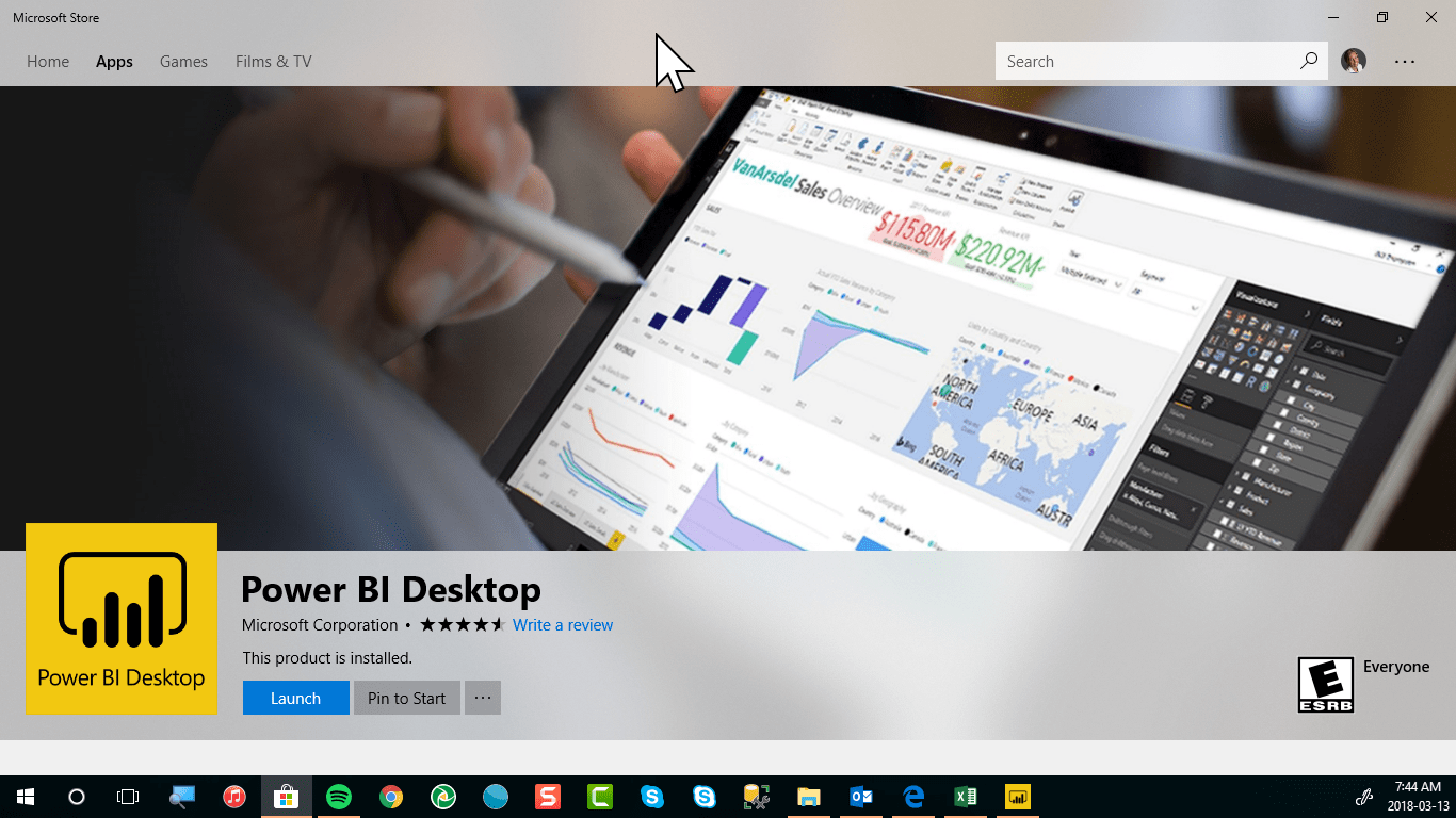 Power BI Desktop via Store