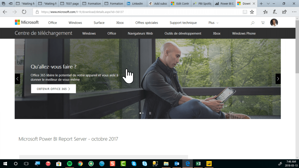 Power BI Desktop pour serveur