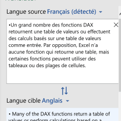 Excel - Traduction paragraphe