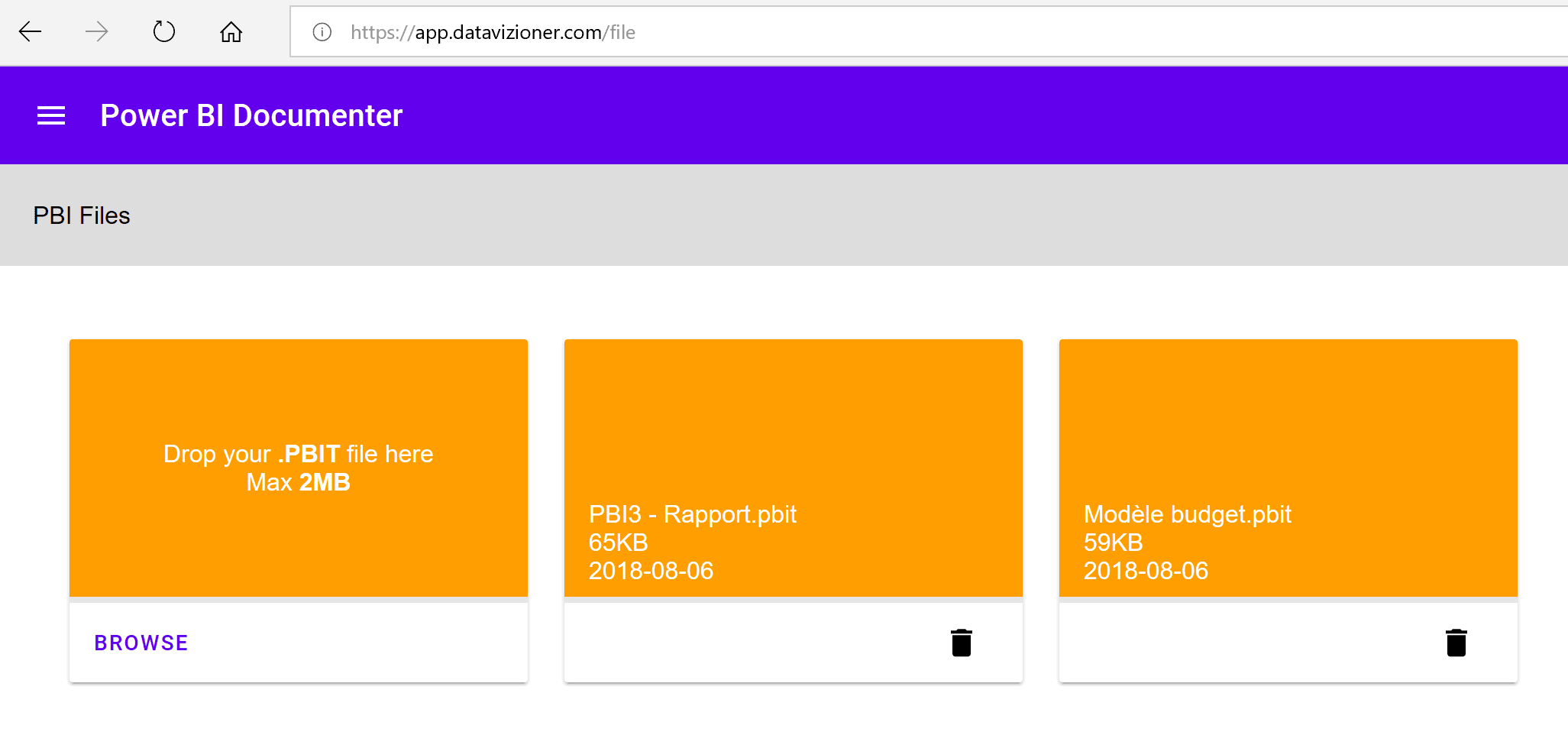 Power BI Documenter accueil