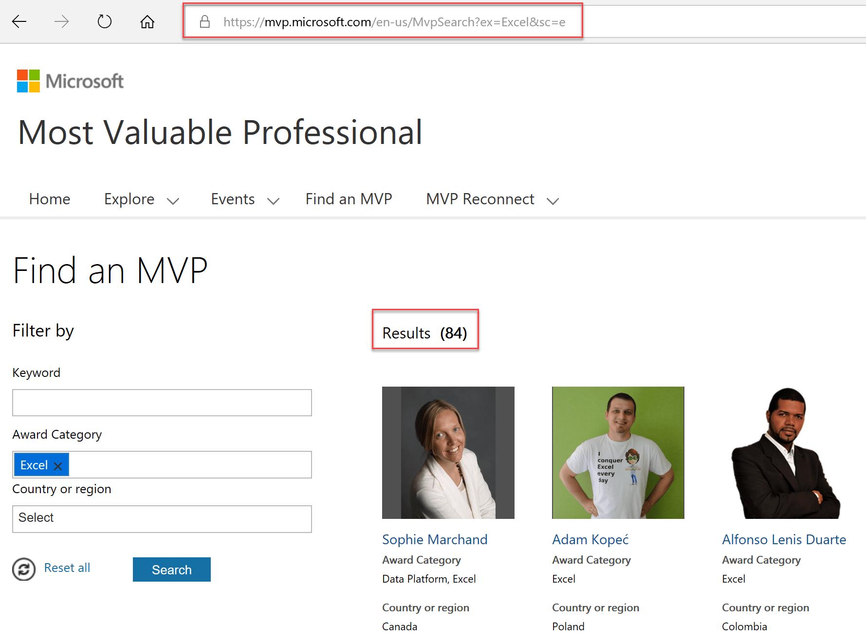 Moteur de recherche MVP