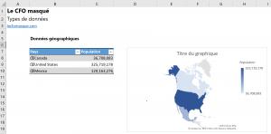 Carte géographique type données