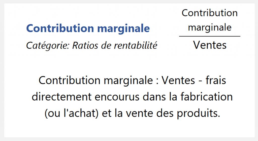 Contribution marginale