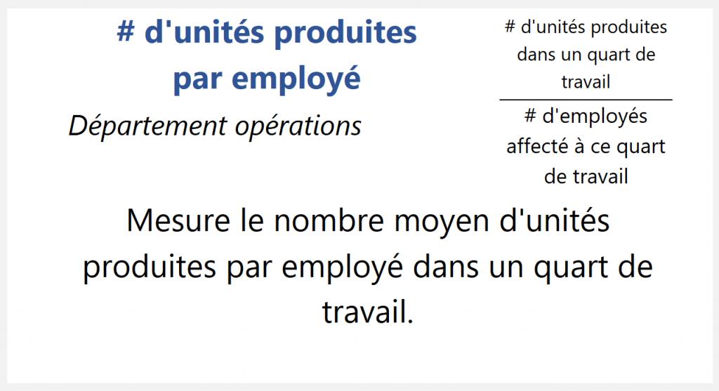 # d'unités produites par employé