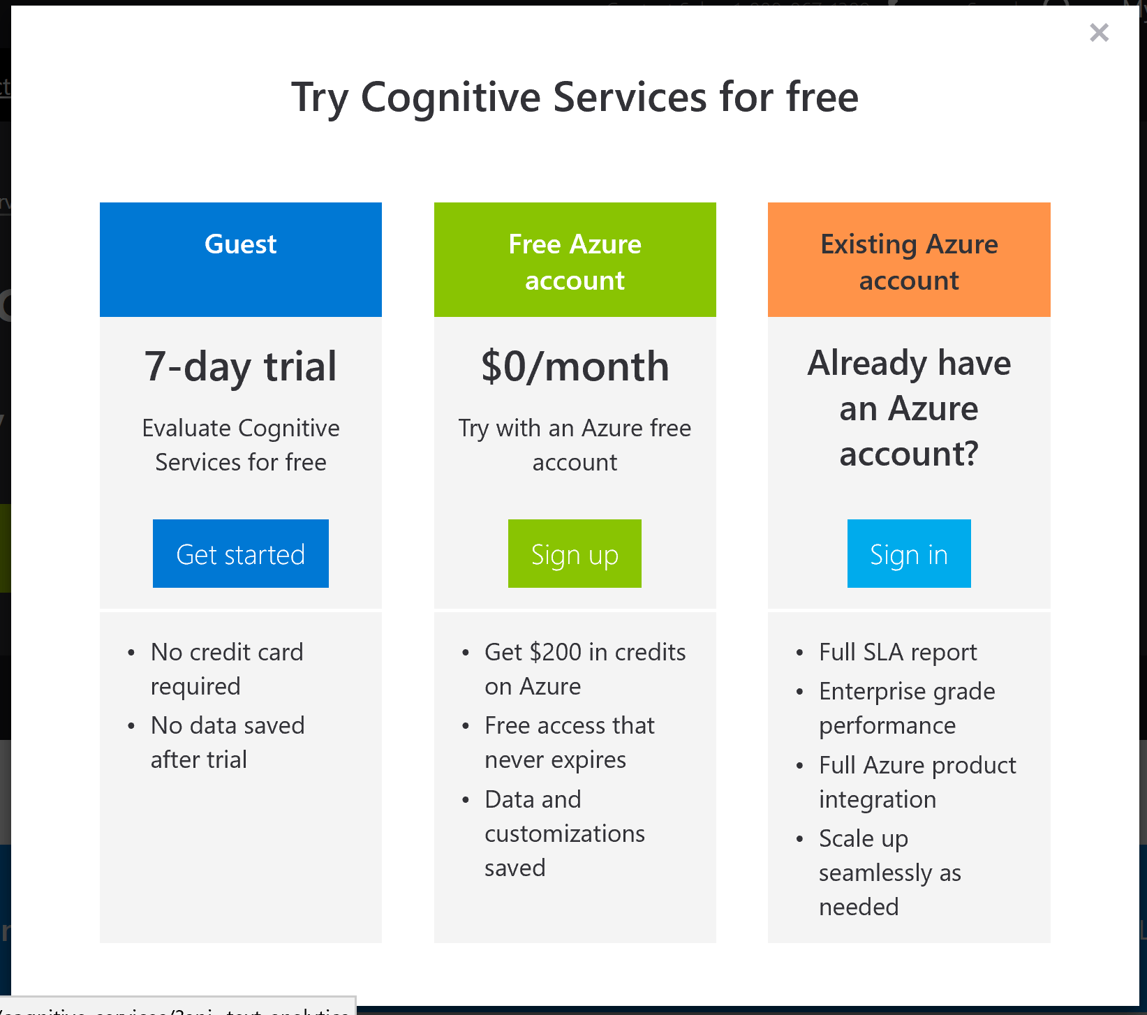 Cognitive Services Account