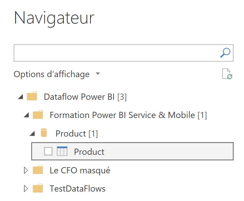 Connexion à un dataflow