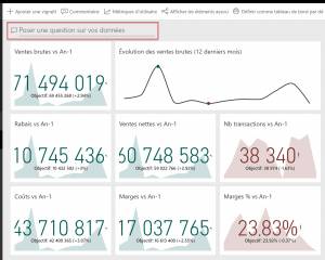 Poser une question Power BI Service