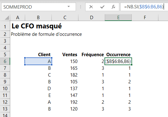 Formule occurence 1