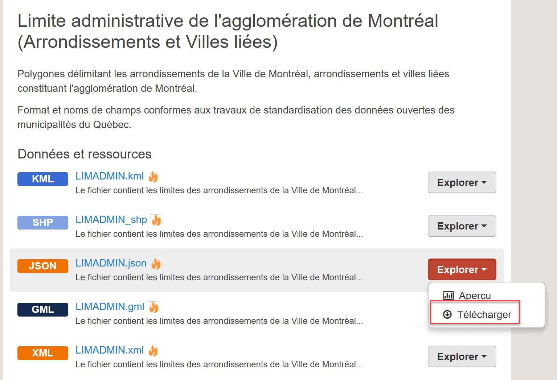 Agglomérations Montréal