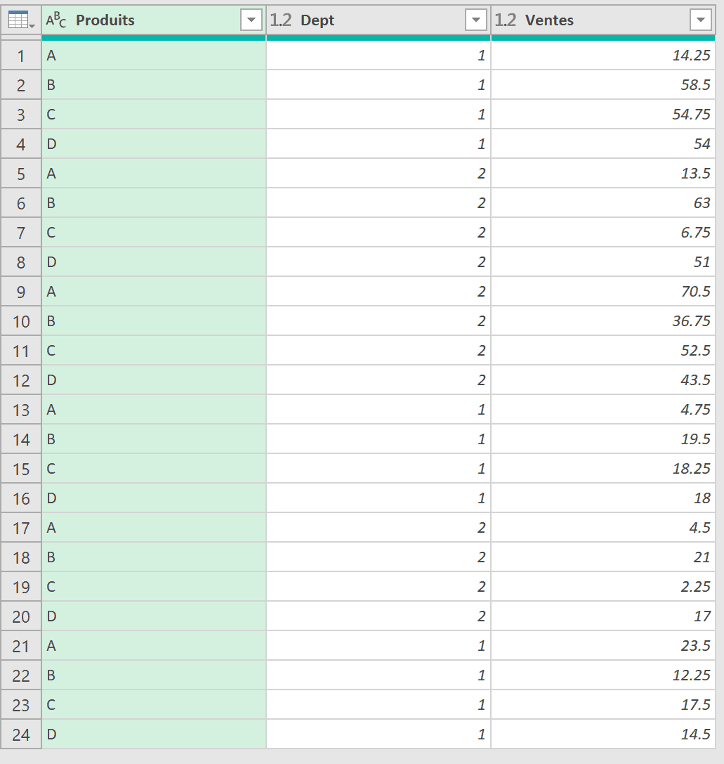 Power Query ajout de tables