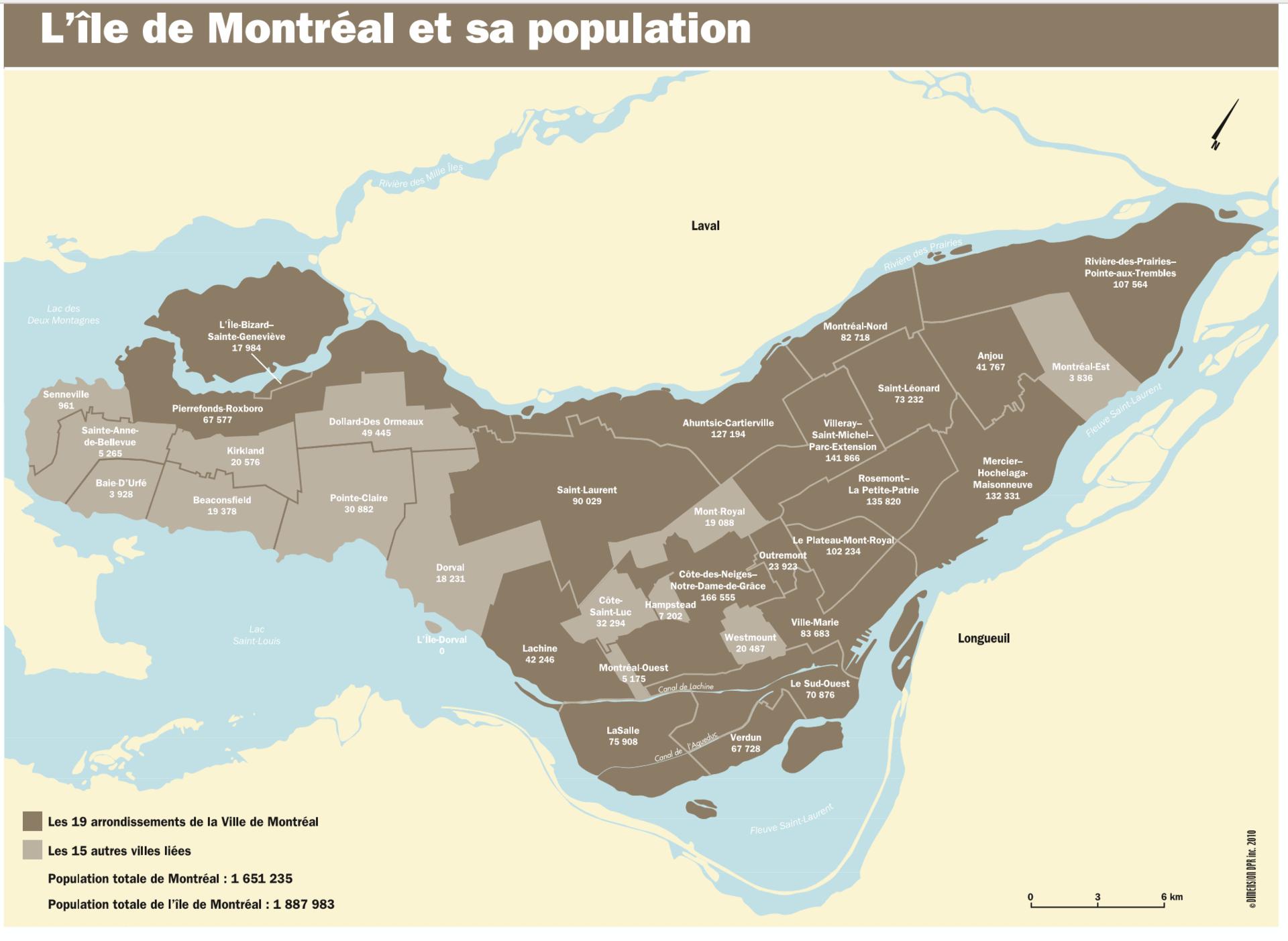 Arrondissements et villes liées