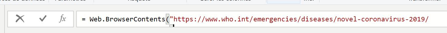 Connexion à un site web