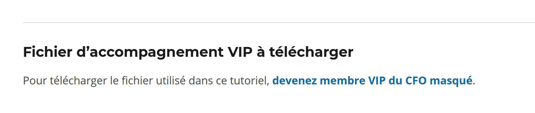 VIP - Fichier à télécharger non connecté