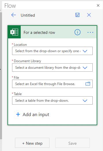 Flux dans Excel