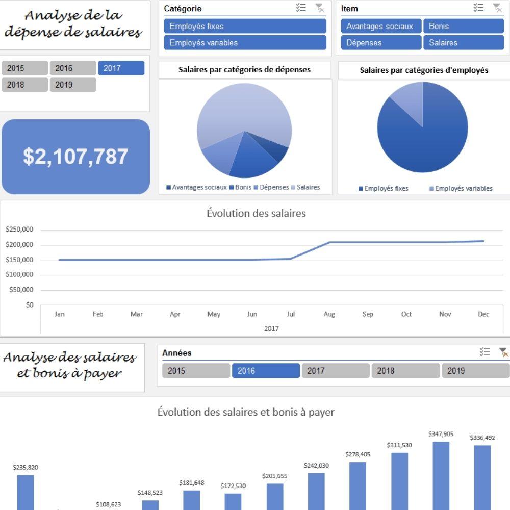 Le CFO masqué - Outils de gestion - Analyse salaires