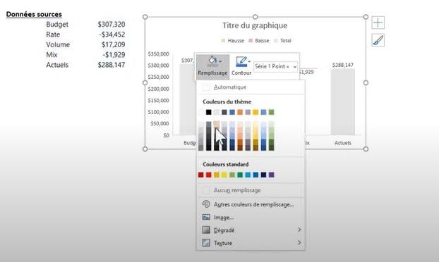 Thème Excel - Modifier les couleurs