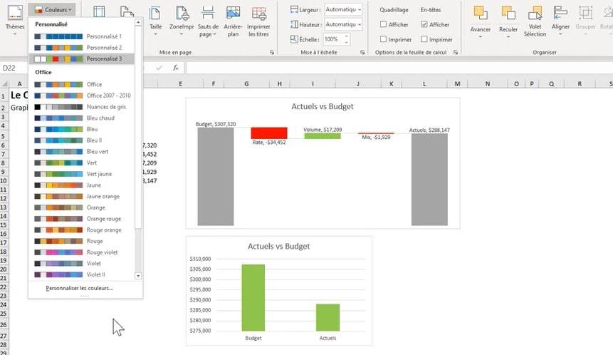 Thème Excel - Personnalisé
