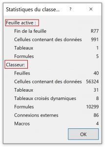 Feuille active vs classeur