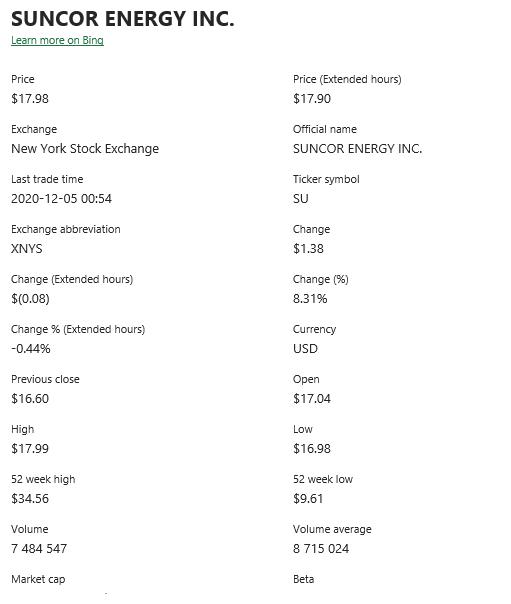 Informations liées aux données boursières Excel