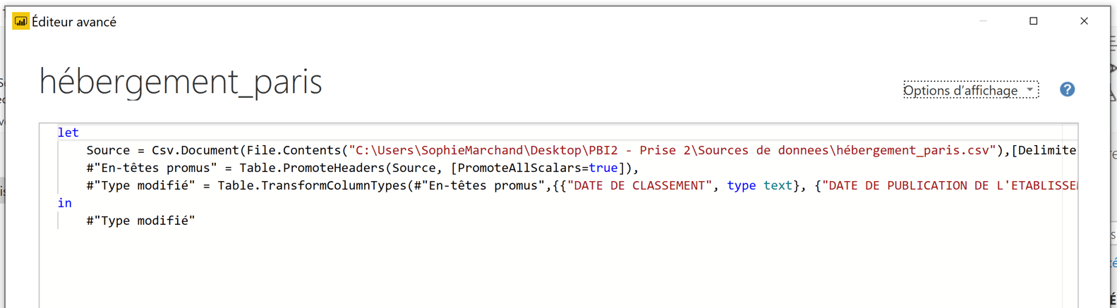 Code M Power Query