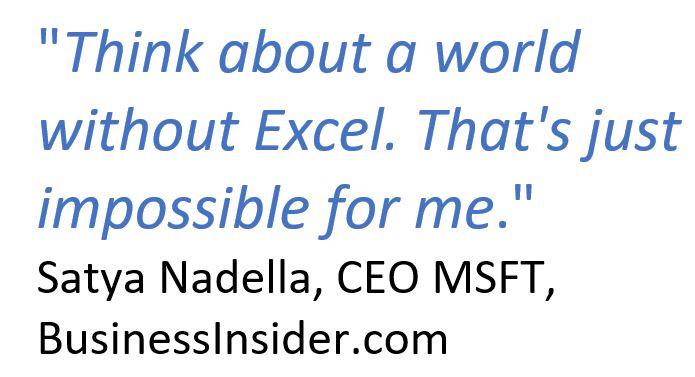 Satya Nadella et Excel