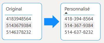 Format personnalisé Power BI