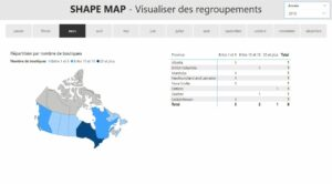 Power BI Carte de formes