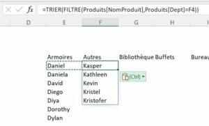 Copier formule Excel
